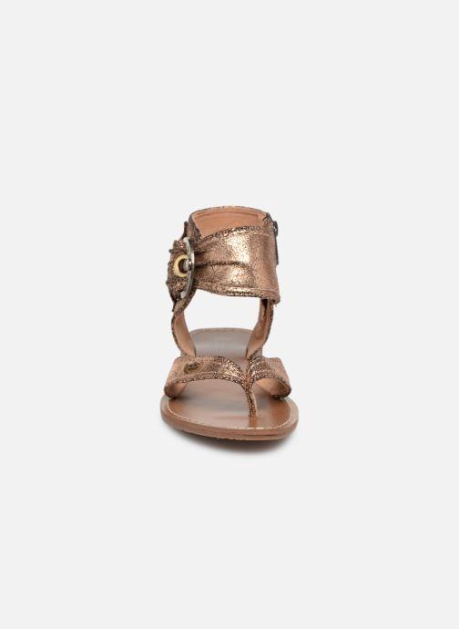 Sandales et nu-pieds Les P'tites Bombes Thalie Or et bronze vue portées chaussures