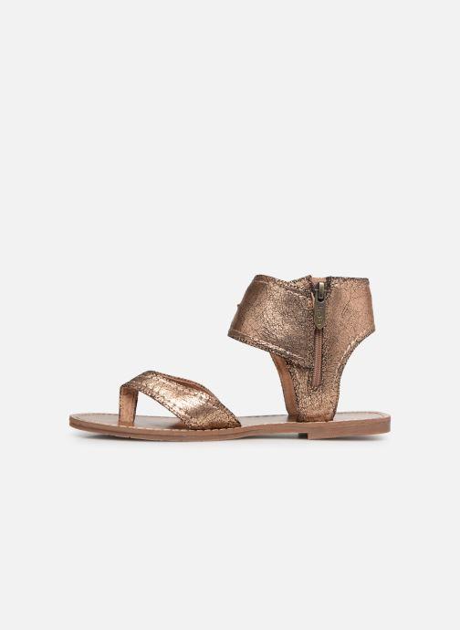Sandales et nu-pieds Les P'tites Bombes Thalie Or et bronze vue face