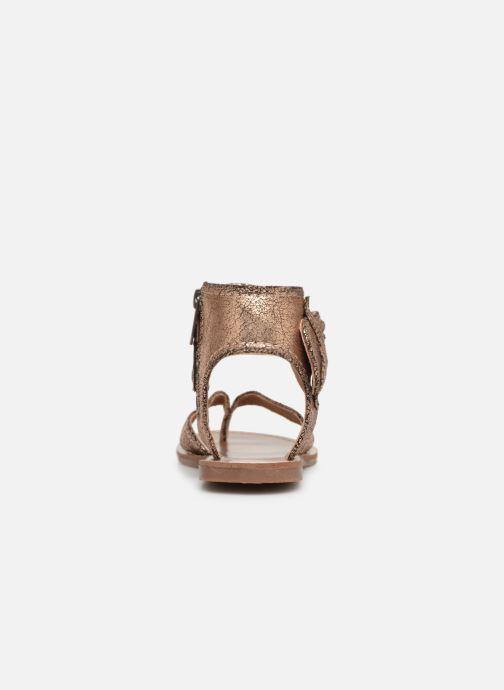Sandales et nu-pieds Les P'tites Bombes Thalie Or et bronze vue droite