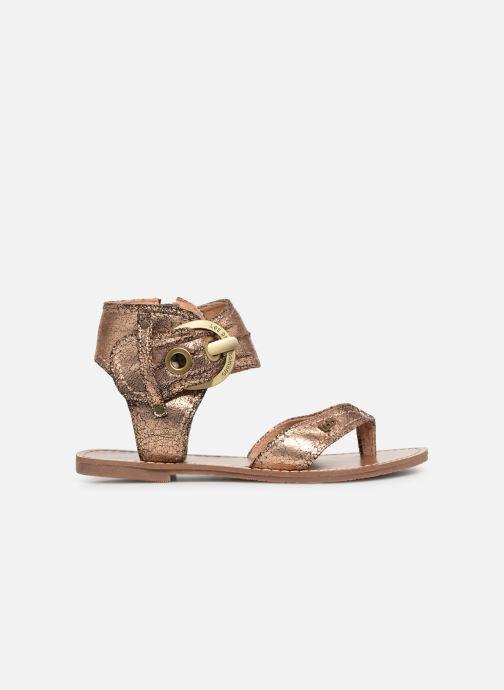 Sandales et nu-pieds Les P'tites Bombes Thalie Or et bronze vue derrière