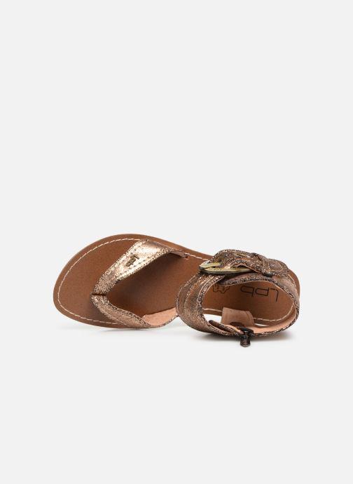 Sandales et nu-pieds Les P'tites Bombes Thalie Or et bronze vue gauche