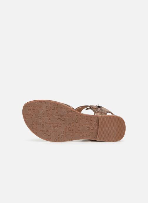 Sandales et nu-pieds Les P'tites Bombes Thalie Or et bronze vue haut