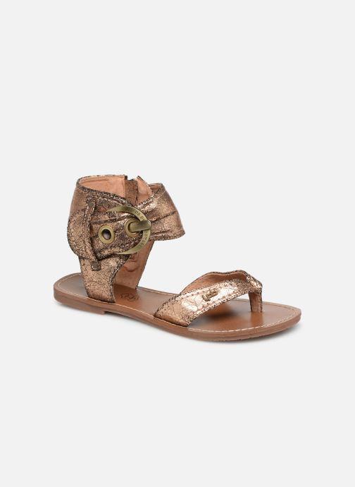 Sandales et nu-pieds Les P'tites Bombes Thalie Or et bronze vue détail/paire