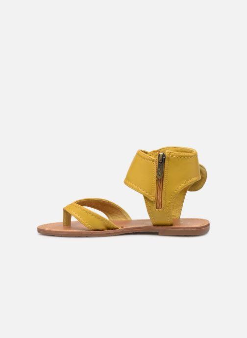 Sandales et nu-pieds Les P'tites Bombes Thalie Jaune vue face