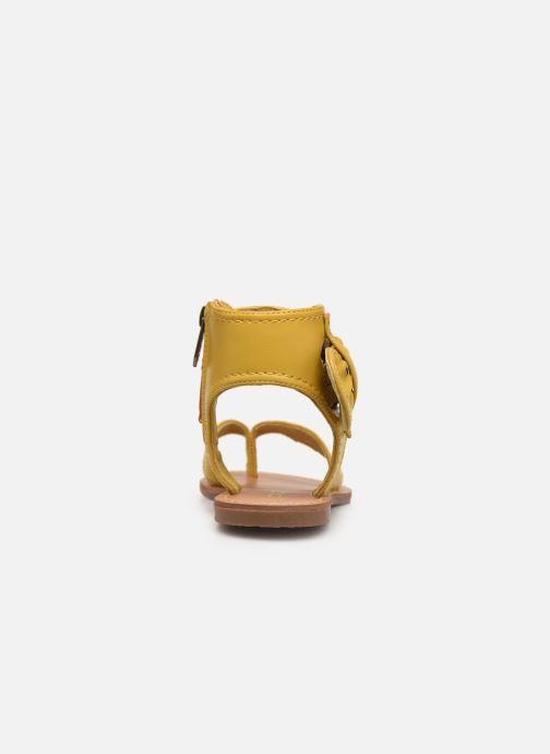 Sandales et nu-pieds Les P'tites Bombes Thalie Jaune vue droite