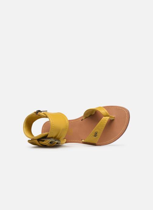 Sandales et nu-pieds Les P'tites Bombes Thalie Jaune vue gauche