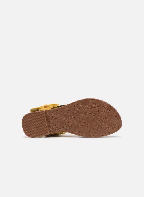 Sandales et nu-pieds Les P'tites Bombes Thalie Jaune vue haut