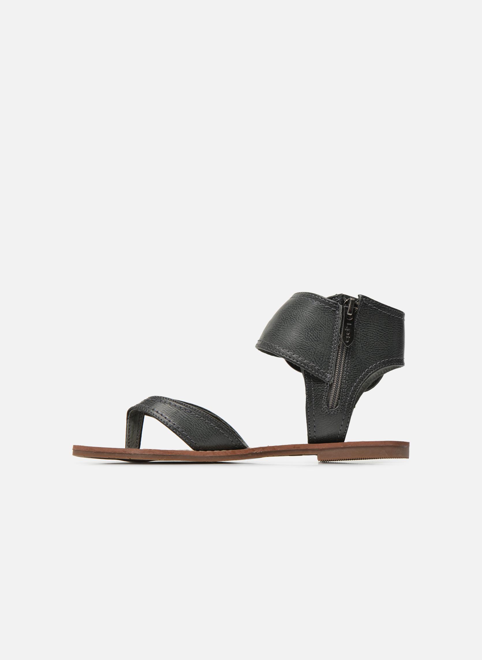Sandales et nu-pieds Les P'tites Bombes Thalie Noir vue face