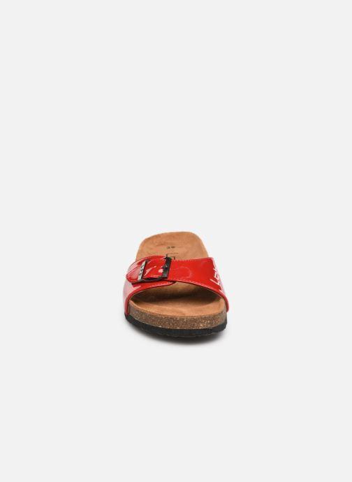 Mules et sabots Les P'tites Bombes OPALINE Rouge vue portées chaussures