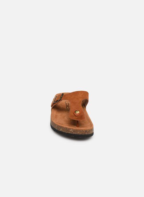 Tongs Les P'tites Bombes Zelda Marron vue portées chaussures