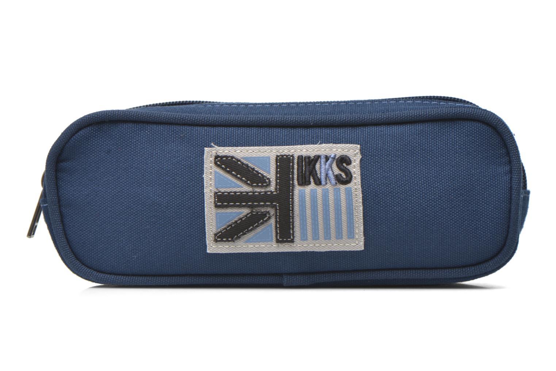 Scolaire IKKS Trousse double UK Bleu vue détail/paire