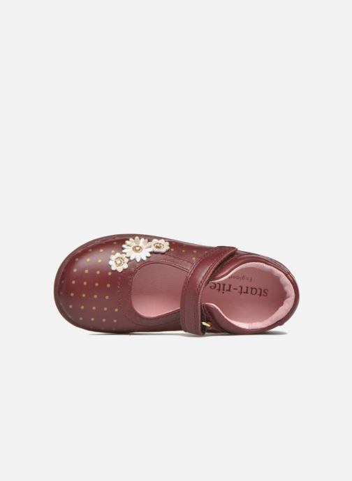 Ballet pumps Start Rite Daisy Burgundy view from the left