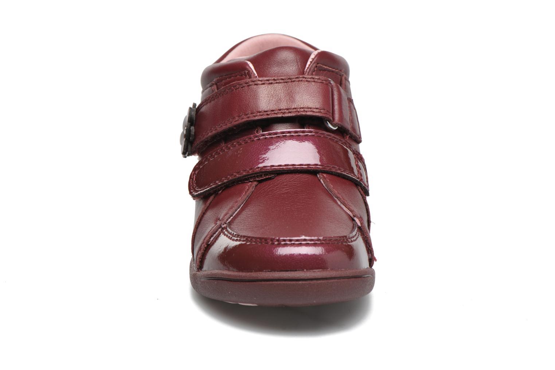 Chaussures à scratch Start Rite Lily Bordeaux vue portées chaussures