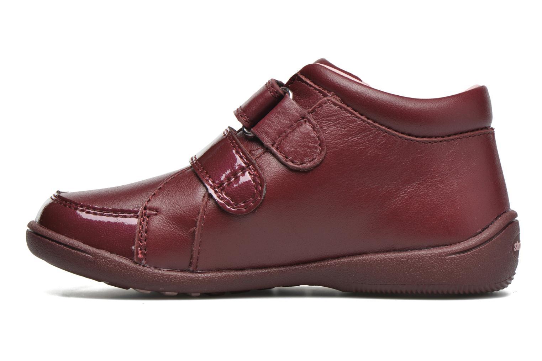 Chaussures à scratch Start Rite Lily Bordeaux vue face