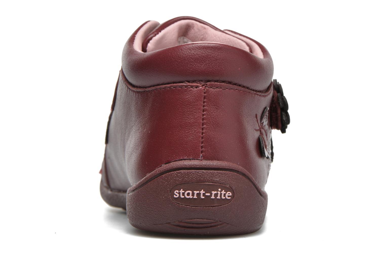 Chaussures à scratch Start Rite Lily Bordeaux vue droite