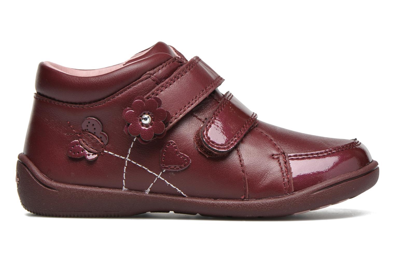 Chaussures à scratch Start Rite Lily Bordeaux vue derrière