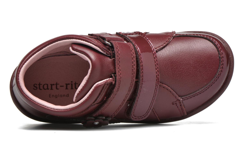 Chaussures à scratch Start Rite Lily Bordeaux vue gauche