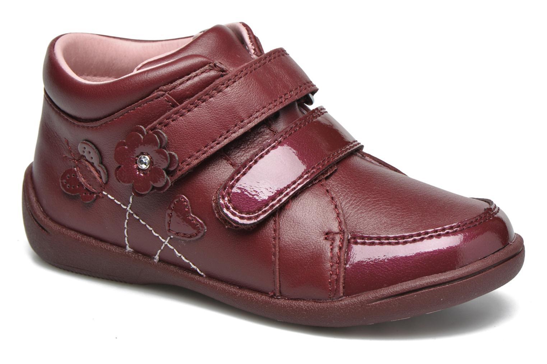 Chaussures à scratch Start Rite Lily Bordeaux vue détail/paire