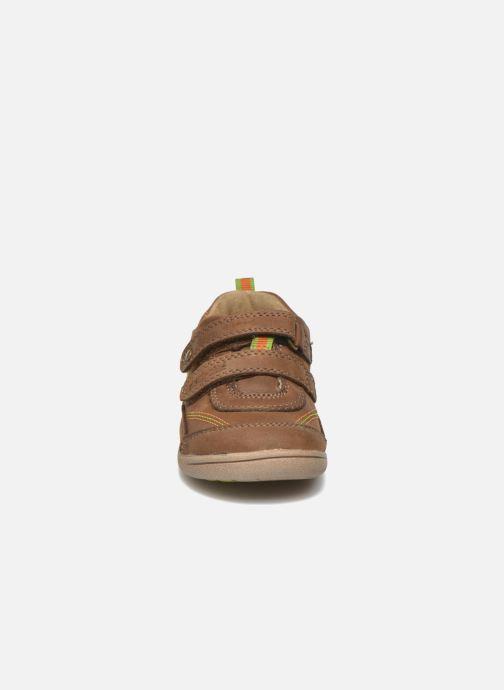 Zapatos con velcro Start Rite Leo Marrón vista del modelo