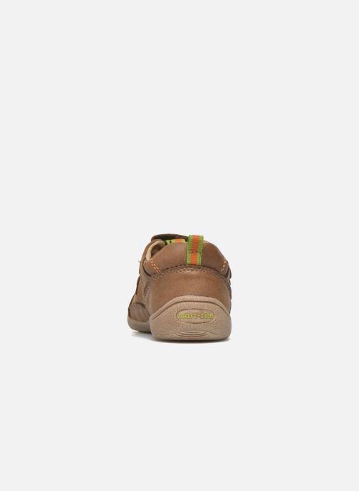 Zapatos con velcro Start Rite Leo Marrón vista lateral derecha