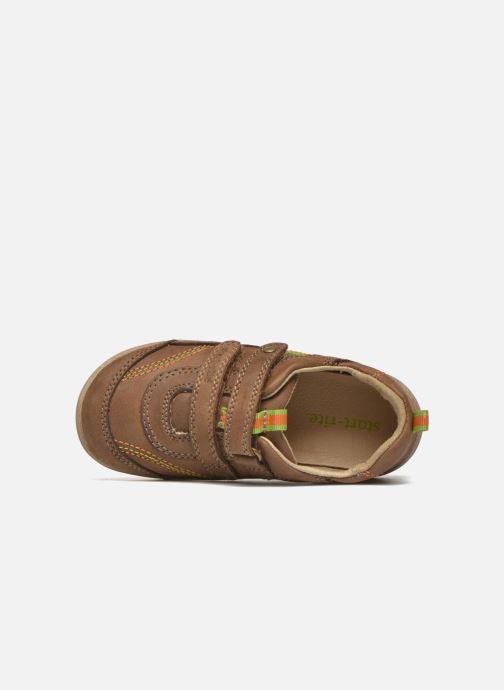 Zapatos con velcro Start Rite Leo Marrón vista lateral izquierda
