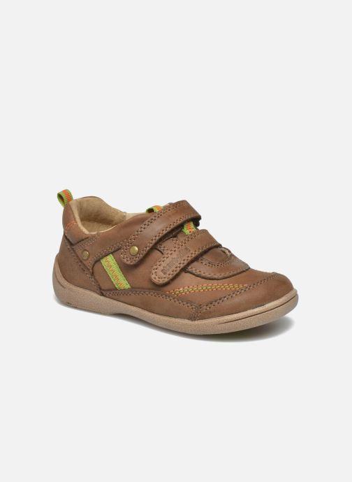 Schoenen met klitteband Start Rite Leo Bruin detail