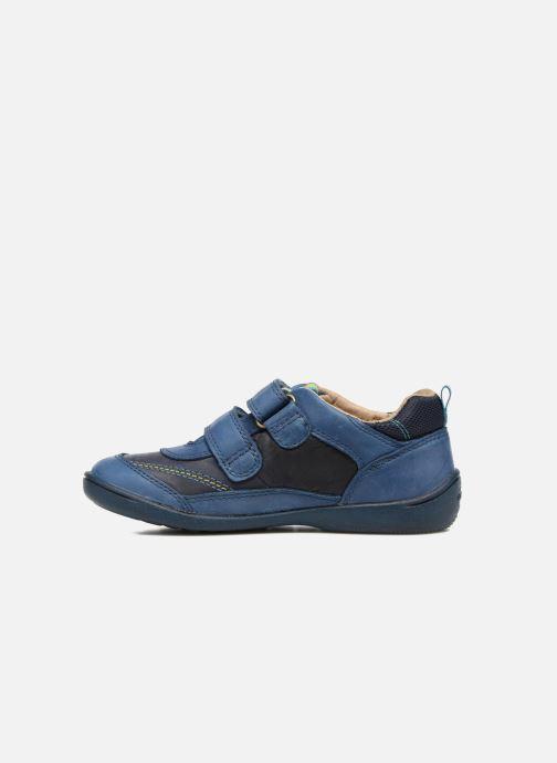 Zapatos con velcro Start Rite Leo Azul vista de frente