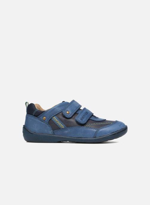 Schoenen met klitteband Start Rite Leo Blauw achterkant