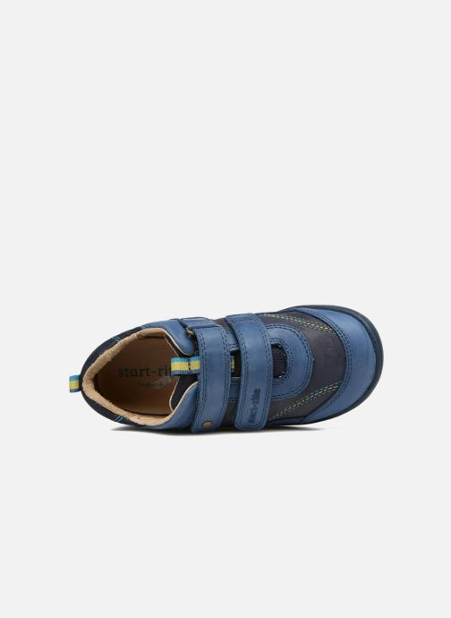 Chaussures à scratch Start Rite Leo Bleu vue gauche