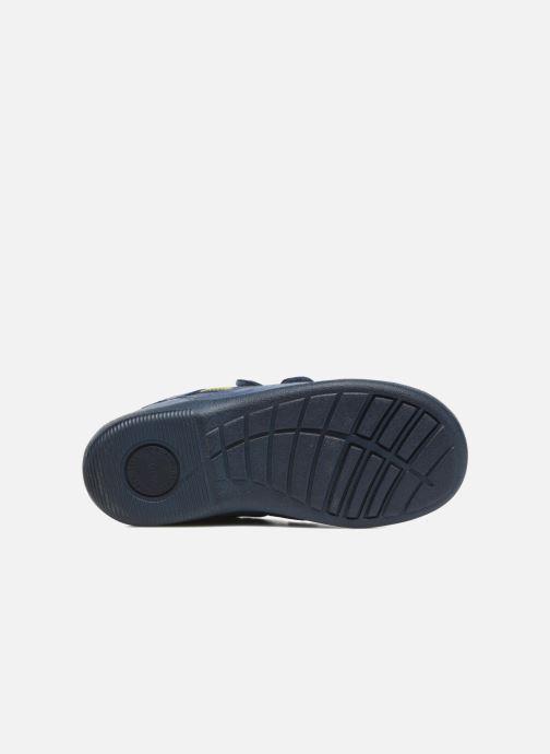Chaussures à scratch Start Rite Leo Bleu vue haut