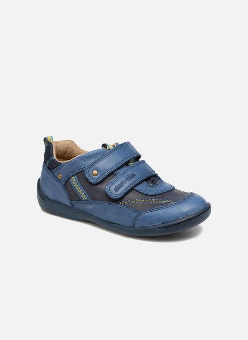 Schoenen met klitteband Start Rite Leo Blauw detail