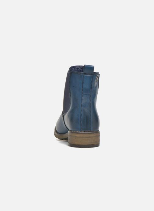 Botines  Refresh Rain-61428 Azul vista lateral derecha