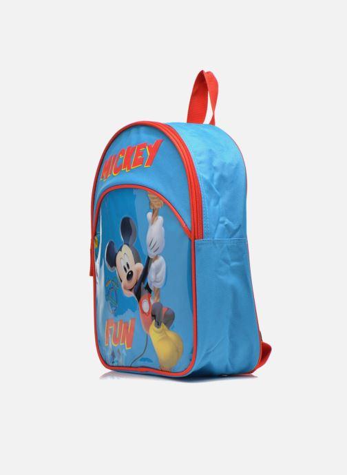 Sacs à dos Disney Sac à dos Mickey Bleu vue portées chaussures