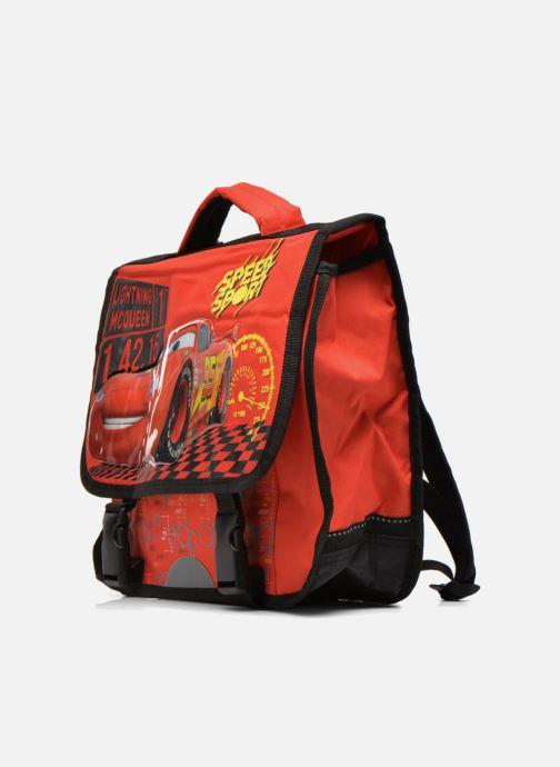 Per la scuola Disney Cartable 35cm Cars Rosso modello indossato