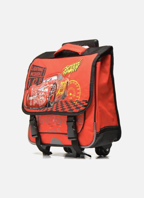 Scolaire Disney Cartable 38cm Trolley Cars Rouge vue portées chaussures