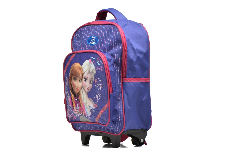 Zaini Disney Sac à dos Trolley Reine des neiges Azzurro modello indossato