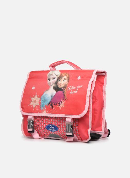 Scolaire Disney Cartable 38cm Reine des neiges Rose vue portées chaussures