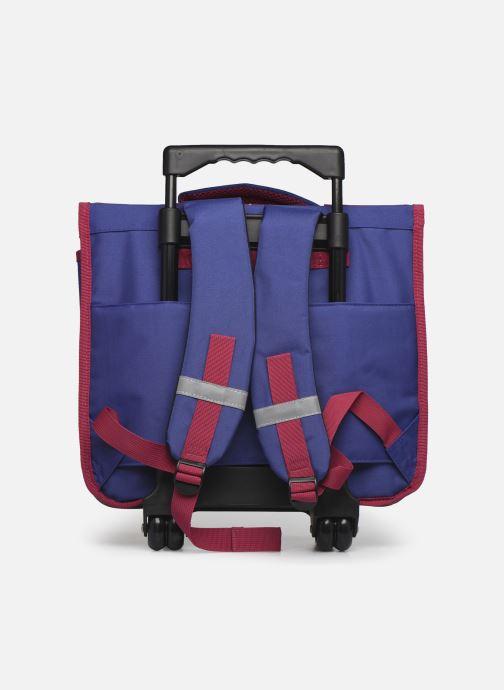 School bags Disney Cartable 38cm Trolley Reine des neiges Purple front view