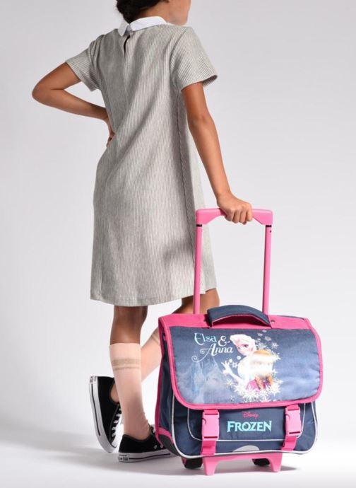 School bags Disney Cartable 38cm Trolley Reine des neiges Purple view from underneath / model view