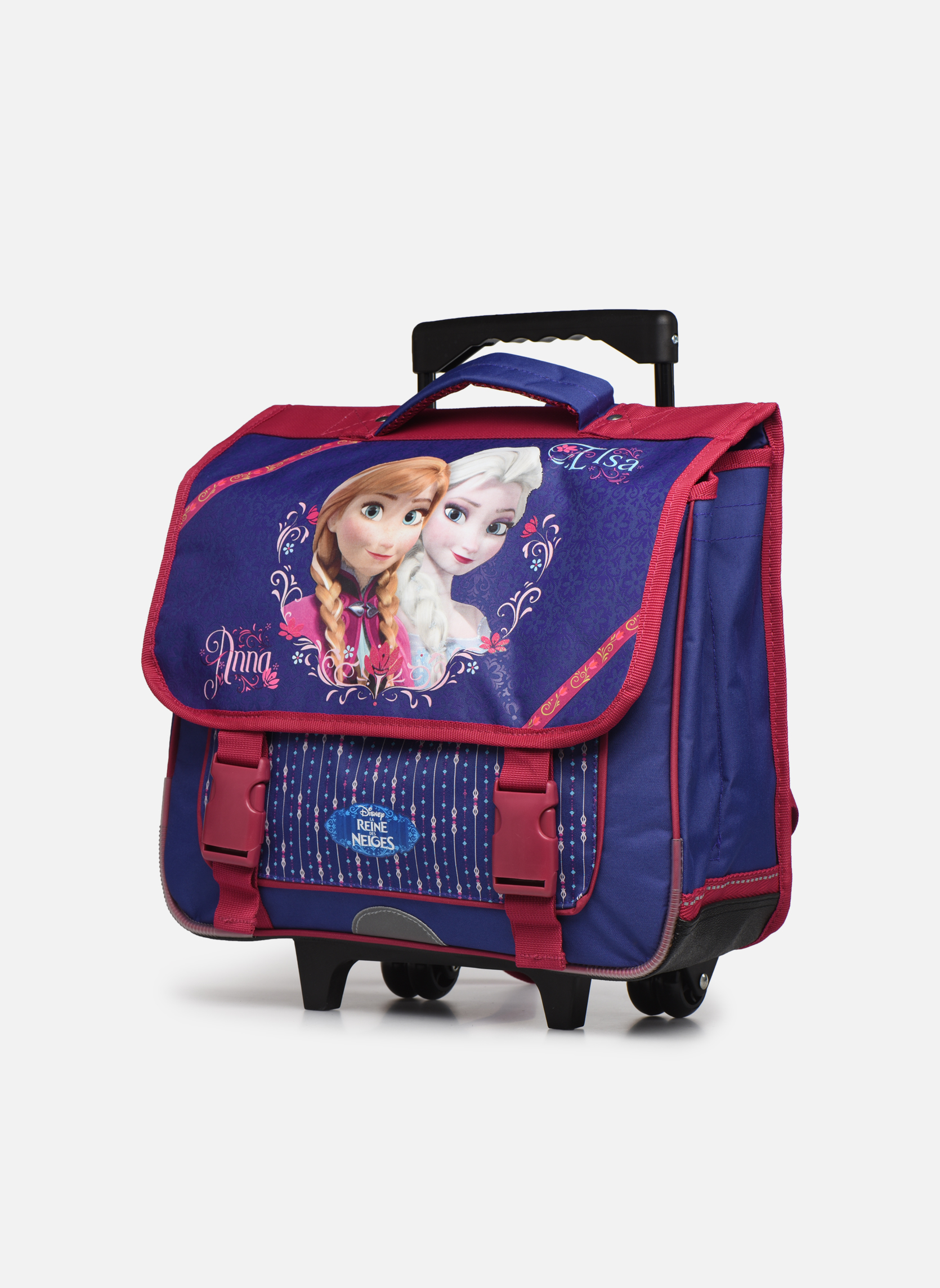 Per la scuola Disney Cartable 38cm Trolley Reine des neiges Viola modello indossato