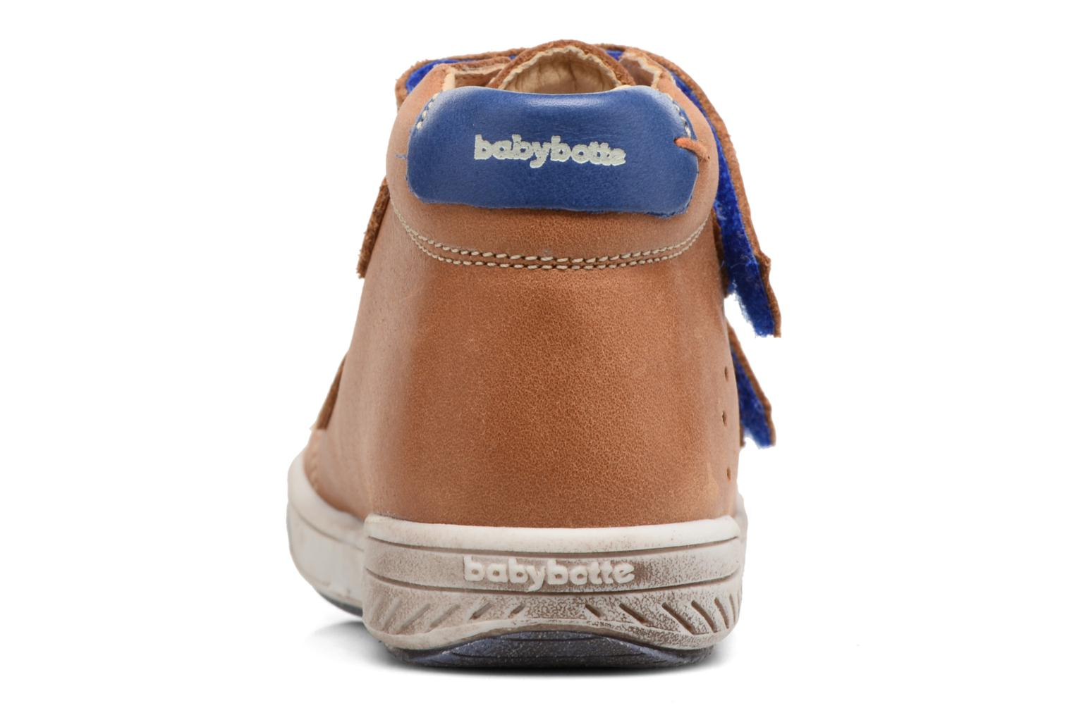 Velcro shoes Babybotte Antilles Brown view from the right