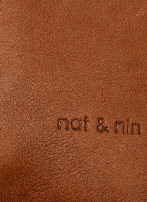 Sacs à main Nat & Nin Jeanne Marron vue gauche