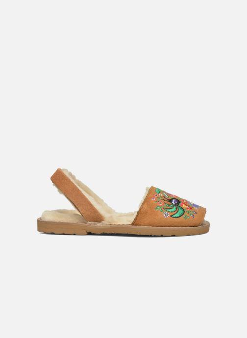 Sandales et nu-pieds MINORQUINES Avarca Broderie Marron vue derrière
