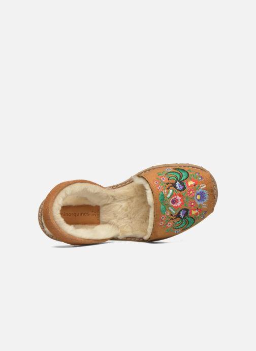 Sandales et nu-pieds MINORQUINES Avarca Broderie Marron vue gauche