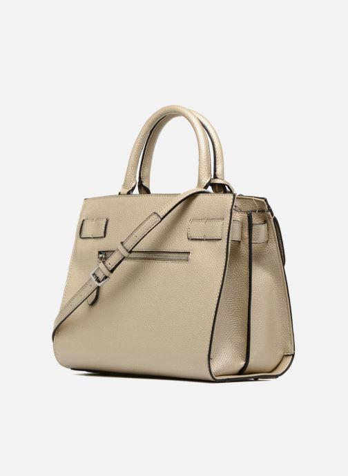 Handtaschen Guess Cate satchel gold/bronze ansicht von rechts