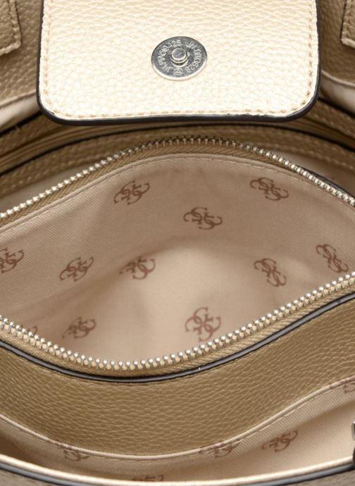 Handtaschen Guess Cate satchel gold/bronze ansicht von hinten