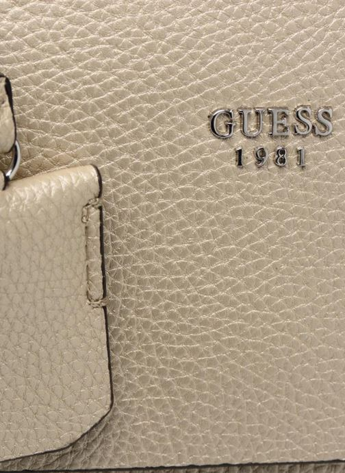 Sacs à main Guess Cate satchel Or et bronze vue gauche