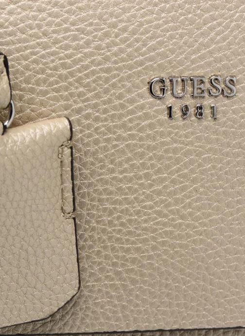 Handtaschen Guess Cate satchel gold/bronze ansicht von links