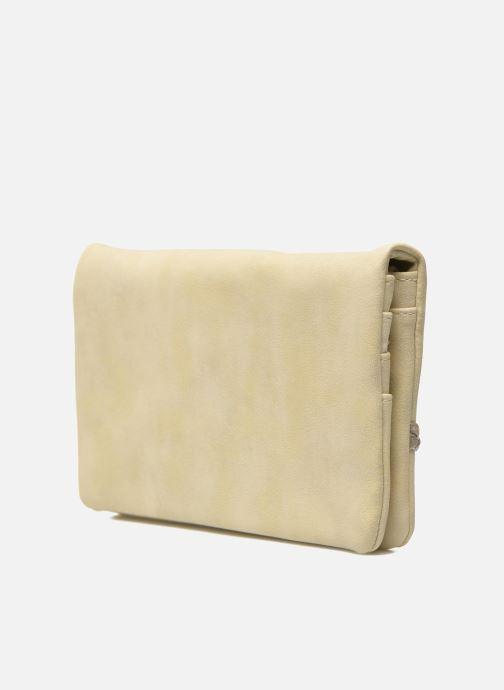 Portemonnaies & Clutches Les P'tites Bombes Portefeuille Brillant beige ansicht von rechts