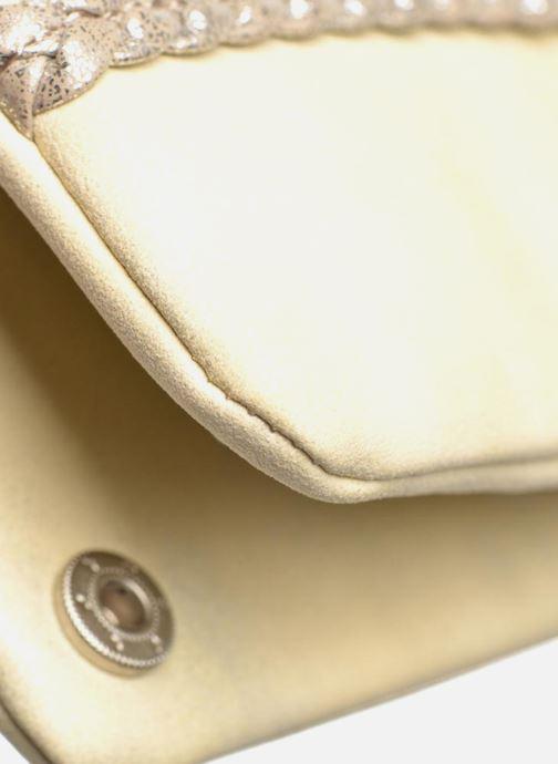 Portemonnaies & Clutches Les P'tites Bombes Portefeuille Brillant beige ansicht von links